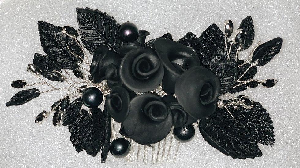 Pente Madrinha / Mãe de Noiva(o) - Pérola Negra
