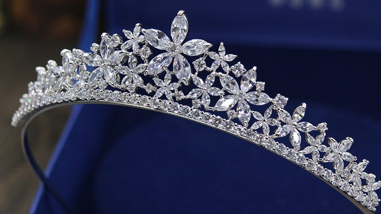 Coroa de Noivas em Zircônia Cúbica - Felicity