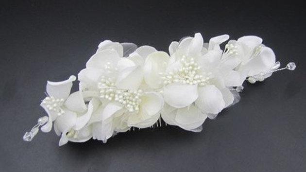 Pente Off-White em Poliéster e Pérolas para noivas