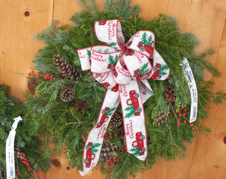 christmas wreath farm truck ribbon.jpg