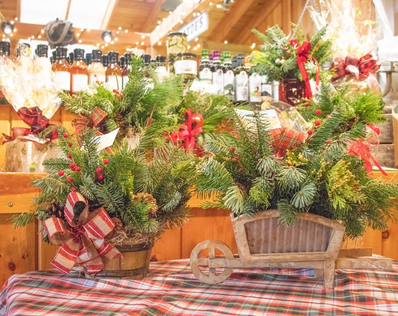 Christmas arrangements farm market 3 whe