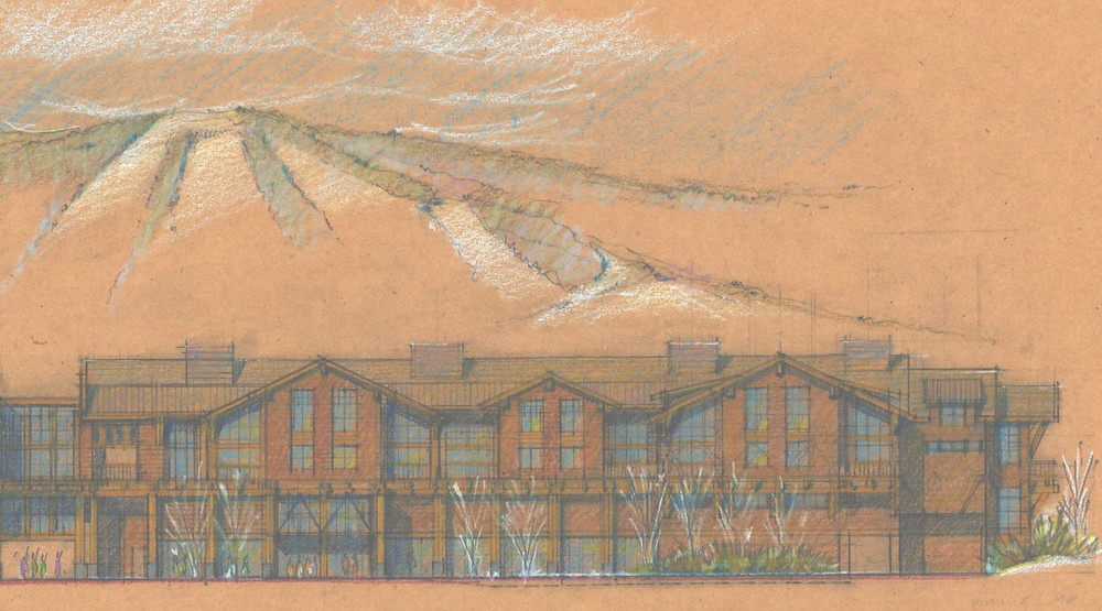 Artist rendering of the proposed Fairbank Lodge, part of the Kearsarge Brook II Condominiums at Cranmore development.