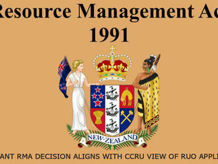 IMPORTANT RMA DECISION ALIGNS WITH CCRU VIEW OF RUO APPLICATION