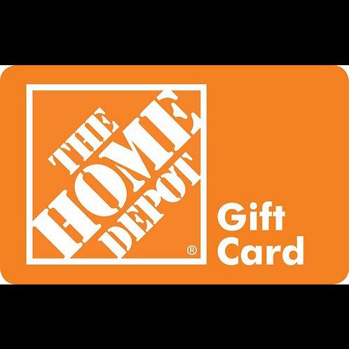 $25.00 Home Depot Gift Card