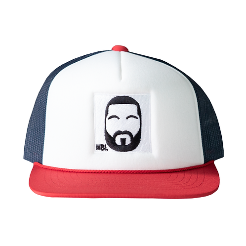 RED & BLUE NBL TRUCKER HAT