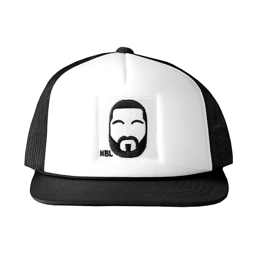 BLACK & WHITE NBL TRUCKER HAT