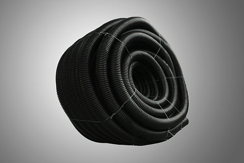 4in. x 100ft TDR SW - Single Wall Perforated Drain Pipe with Drain Sock