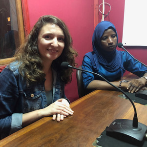Katie Rose and Hajara on the local radio talking about the project