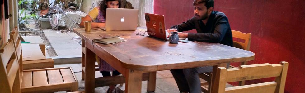 Out Door, Desk Space