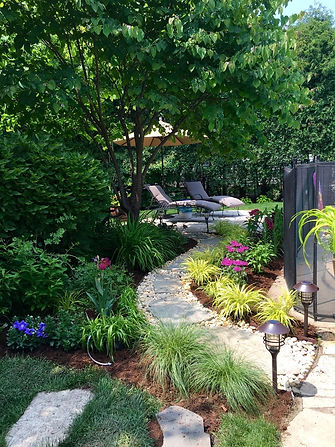 garden installation in Skokie, Illinois