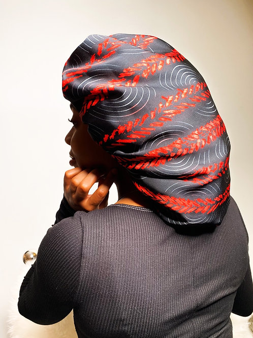 Goal Digging Babe- Reversible Afrochic Bonnet