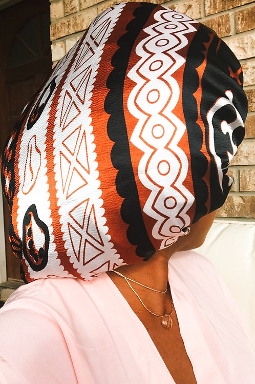 Adinkra Babe - Reversible Afrochic Bonnet