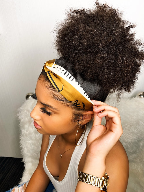 Adinkra Vibes- Silky Headbands