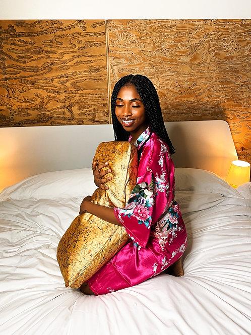Beauty Sleep- Satin Pillowcase (Gold)