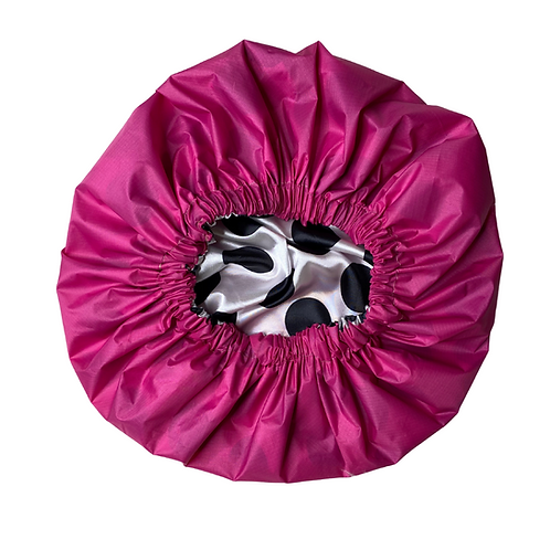 Pink Rain- 2 in 1 Shower Cap