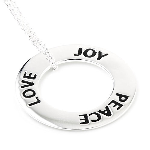 Love, Joy, Peace Zen Pendant