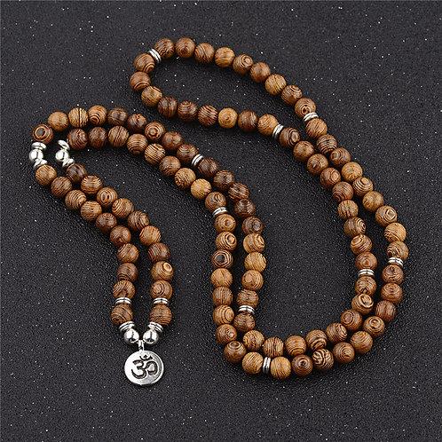 Sandalwood OM Zen Beads