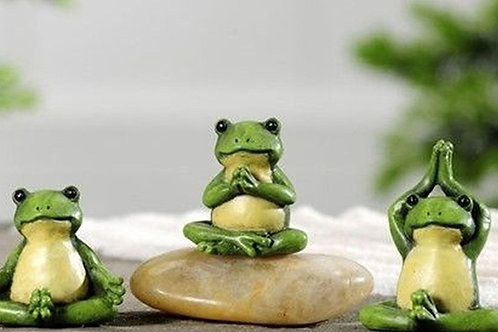 Zen Frogs Set of 3