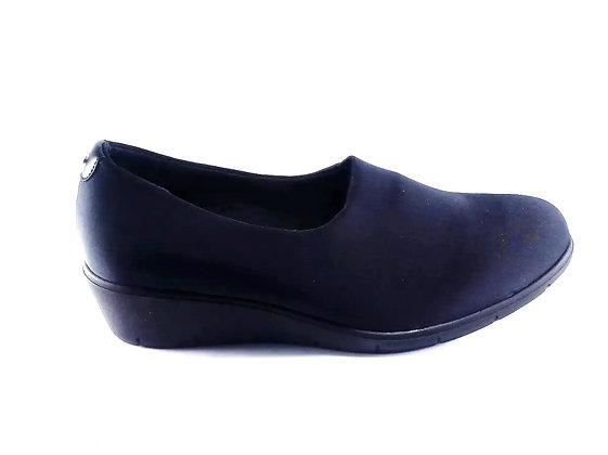 Hispana Zapato De Confort Clásico Mod.lore Choclo Negro Dama