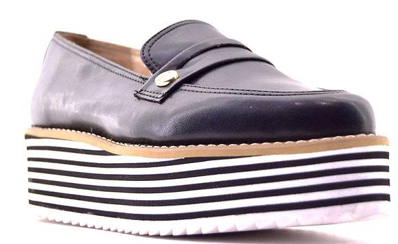 Hispana Zapato Casual Negro con suela Rayada