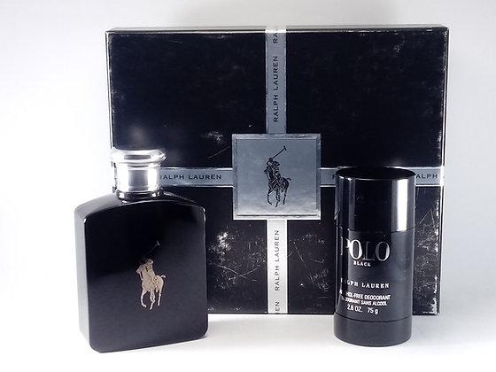 Ralph Lauren Polo Black 125ml Edt For Men Estuche  c/Desodorante.