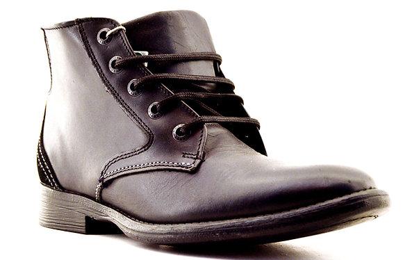 Verde Tabaco bota de piel 2933 Negro