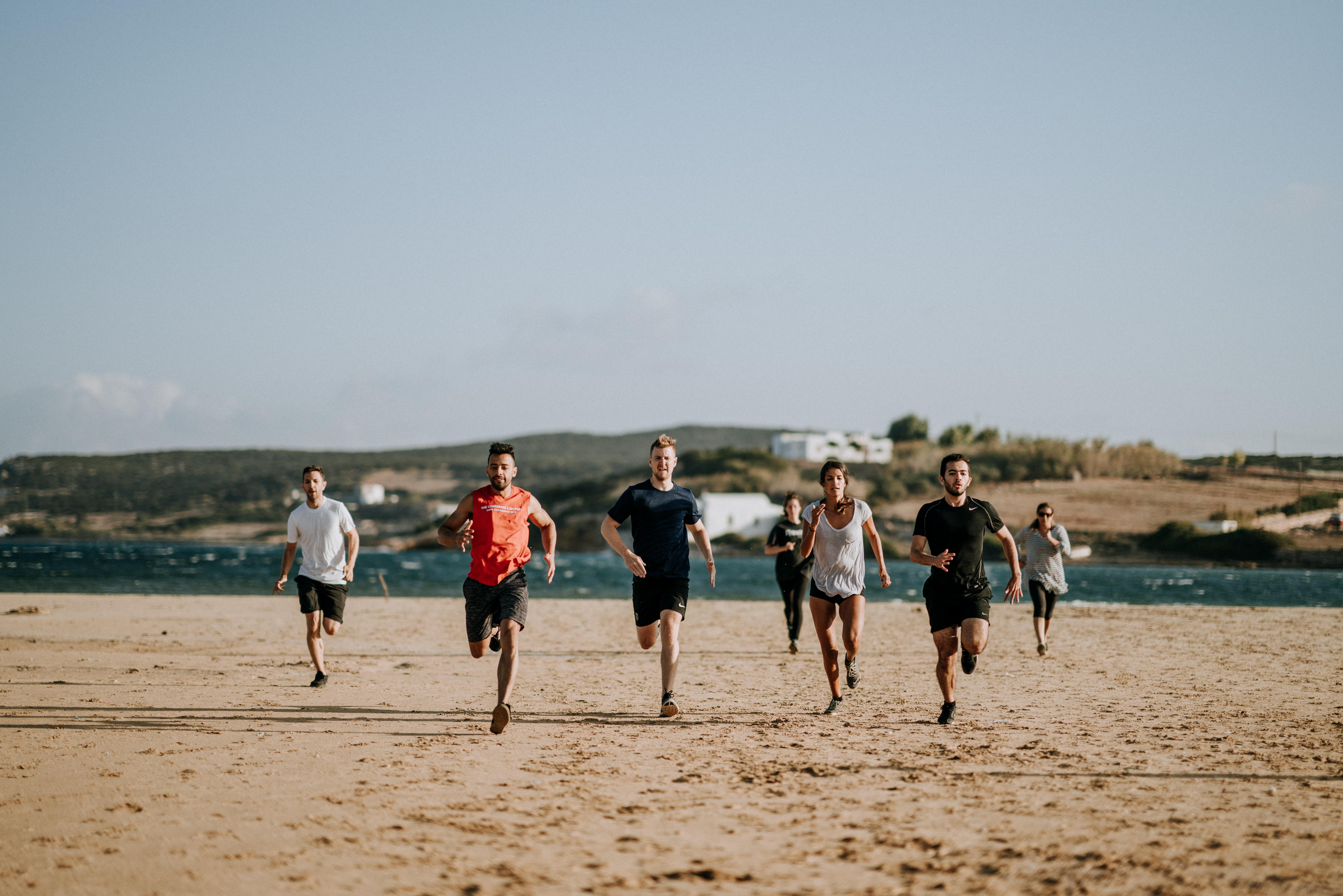 Lauftraining am Strand
