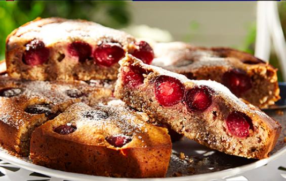 Kirsch-Nuss-Kuchen ohne Mehl