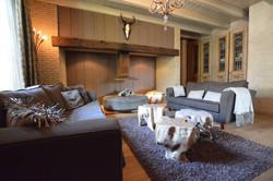 Wohnzimmer, Kamin, Sofas, Lounge