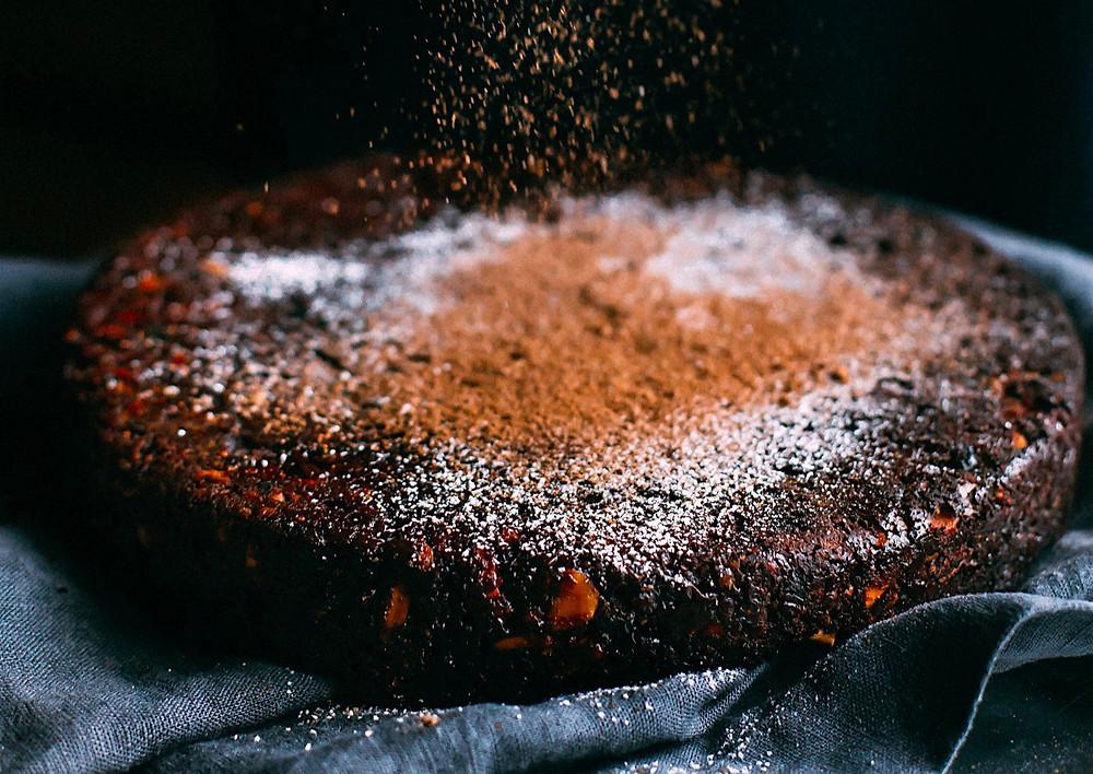 Schokoladenkuchen ohne Zucker und ohne Mehl
