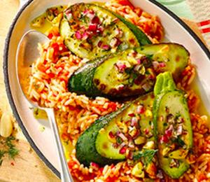Zucchini mit Kräuter-Nuss-Kruste