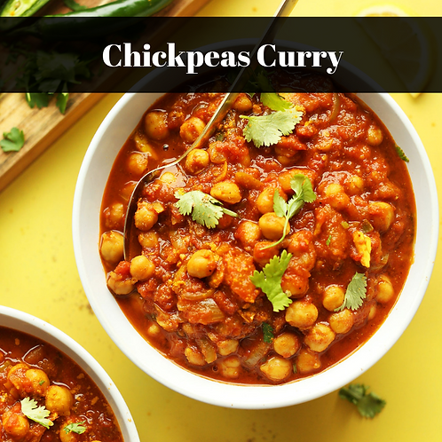 Chick Peas Curry( Serves 2-3)
