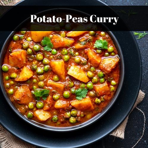 Potato-Peas Curry( Serves 2-3)