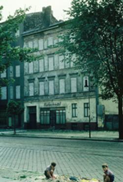 former butcher shop in Berlin Wall