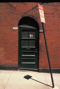 Boston brick doorway