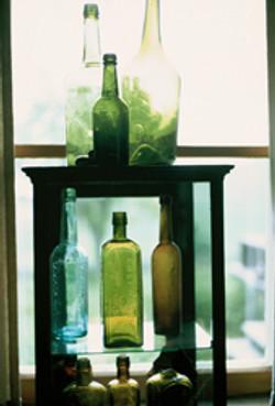 Dug up liquor bottles