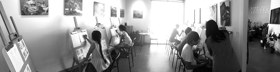 Art class at Ming Creative Art Academy