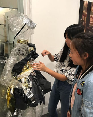 Students working on their project in Fashion Design class