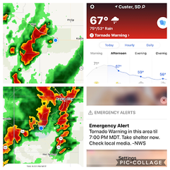 Hey, I thought WE were chasing the weather? Not the other way around!
