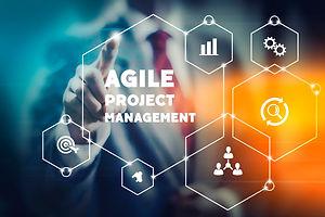 Agile project management concept illustr