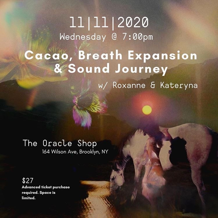 Cacao, Breath Expansion & Sound Journey