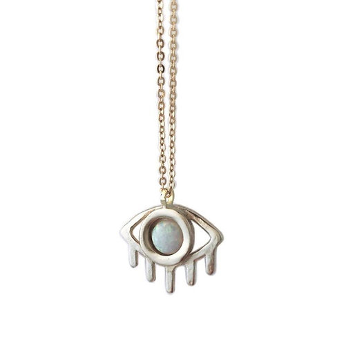 "Eye 24"" Necklace With Opal"