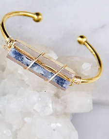 Selenite & Kyanite Bracelet