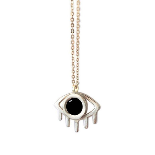 "Eye 24"" Necklace With Black Onyx"
