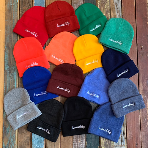 Humidity Script Beanies. All the flavors