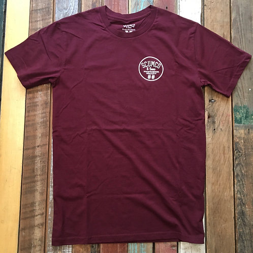 ScumCo Tee (Maroon or whatever)