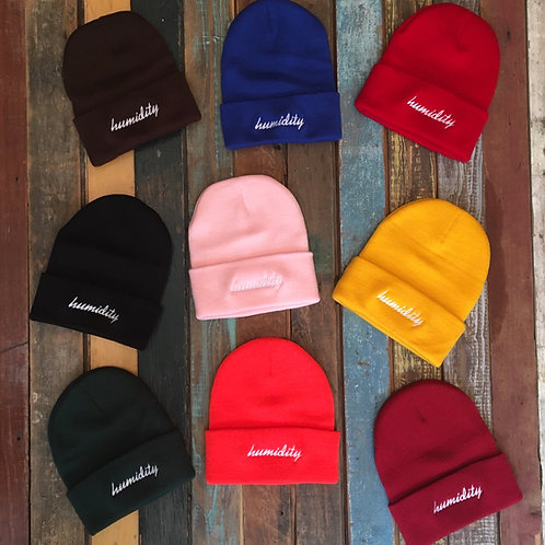 Humidity Script Solid Beanie
