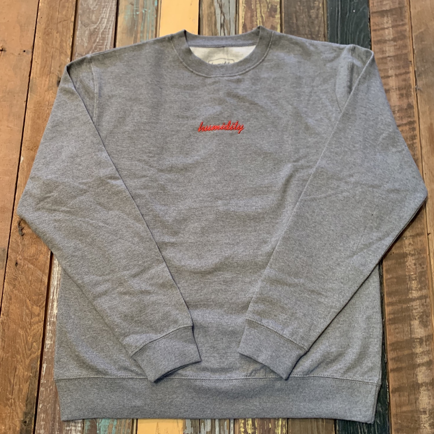 Embroidered Script Crewneck