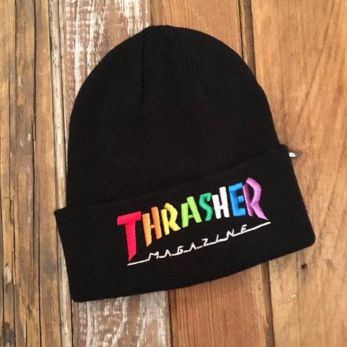 Thrasher Mag Rainbow Beanie