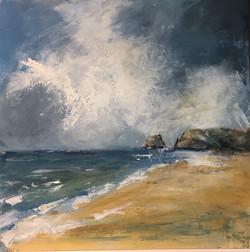Sue Sutherland, Cornish Seascape,62cmx62